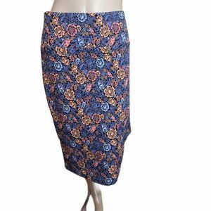 Baby Blue & Pink Floral Pencil Skirt